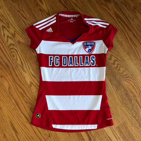 8f9a1720a adidas Tops - Women s Adidas FC Dallas striped home Jersey Sz M